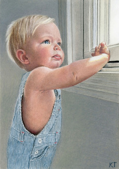 5x7 inch colored pencil drawing