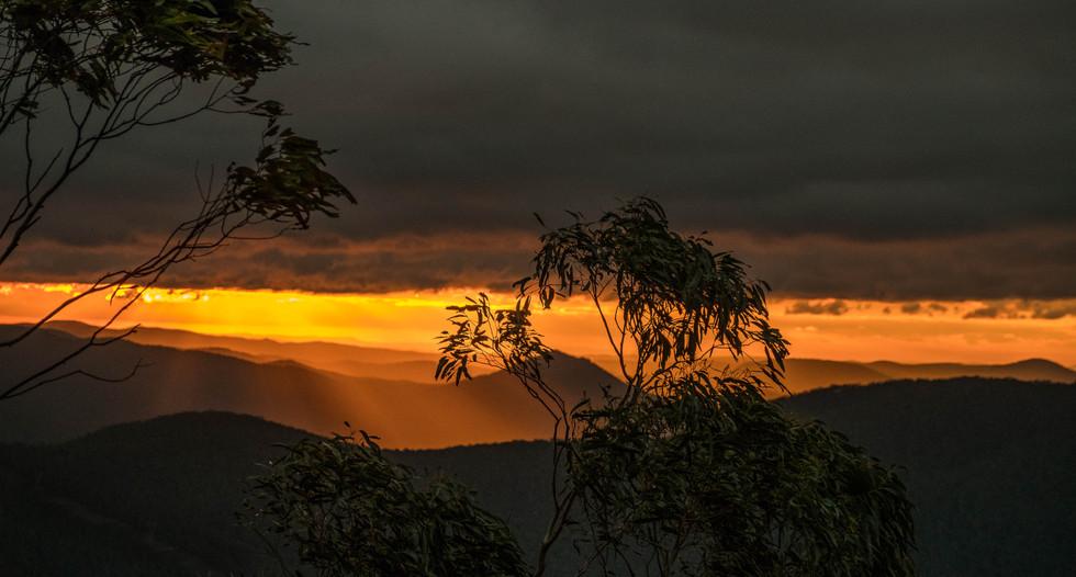 Sunset in Namadgi National Park