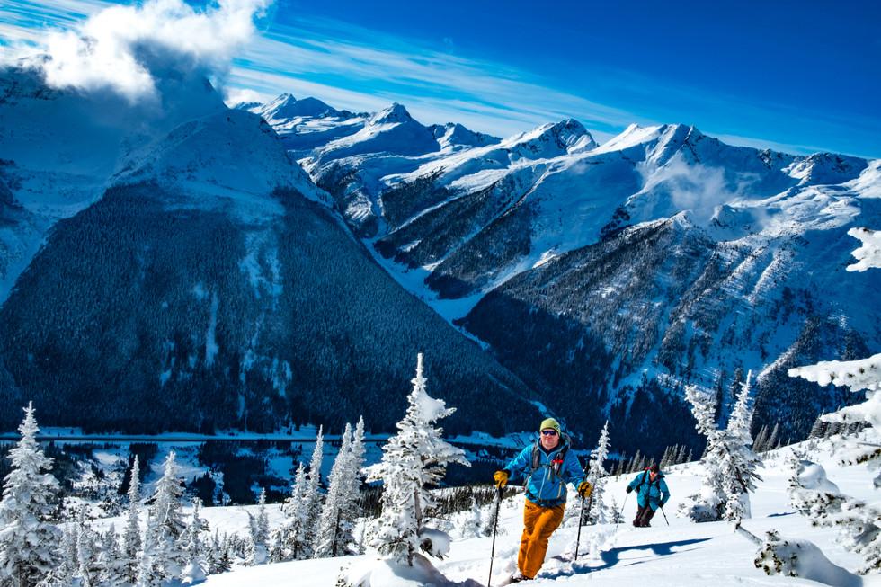 Ski Tourers at Roger's Pass, British Columbia, Canada