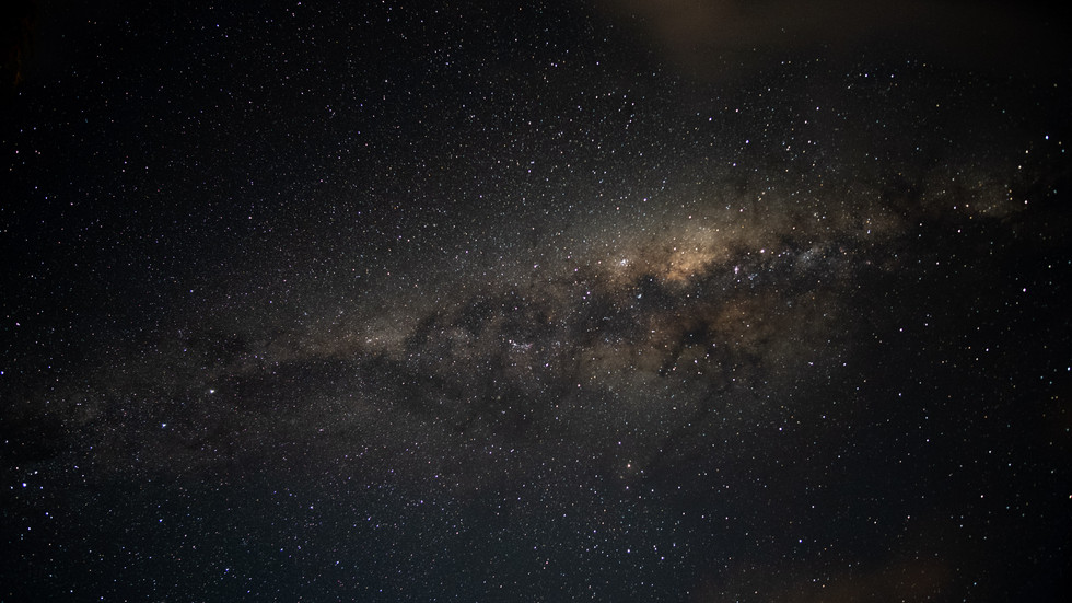 The Milky way, as viewed from Earth.