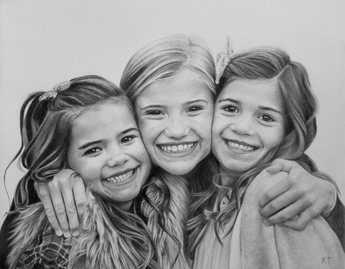 Drawing from photo pencil portrait