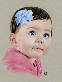 Baby Girl colored pencil portrait