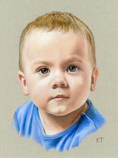 Colored pencil portrait
