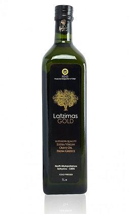 Оливковое масло EV Latzimas Gold 1л/ст