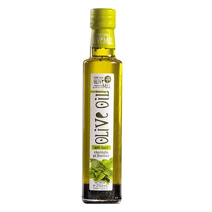Оливковое масло EV с базиликом Cretan Mill 250мл