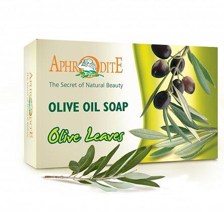 """Оливковое мыло с листьями   """"Aphrodite"""", 100гр."""