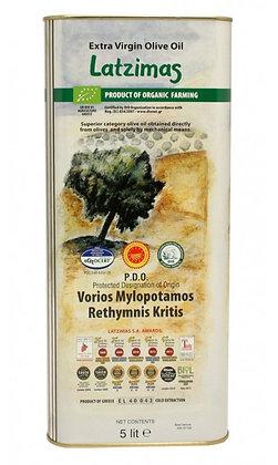 Оливковое масло EV Latzimas Organic 5л/ж.б.