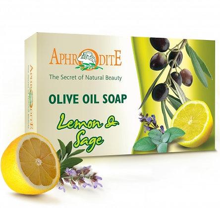 Мыло оливковое с маслом лимона и шалфея Aphrodite