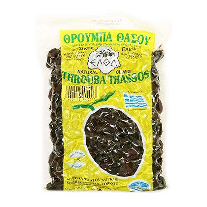 Оливки вяленые Throuba Thassos 500г в вакууме
