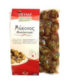 """Оливки """"Миконские"""" """"Olymp"""" c острым перцем, 500 гр"""