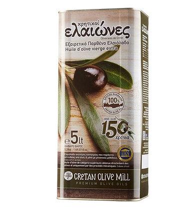 Оливковое масло EV Elaiones 5л/ж.б.