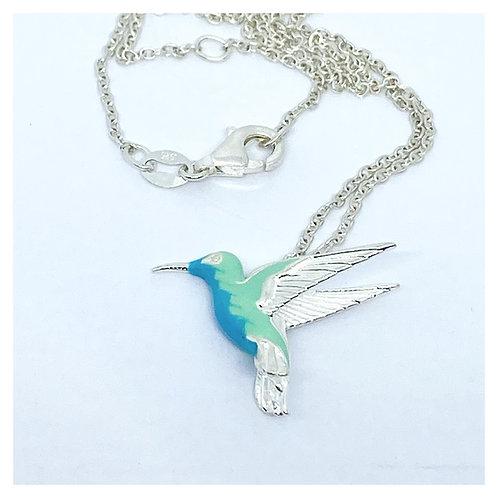 Hummingbird Pendant ...Enamelled