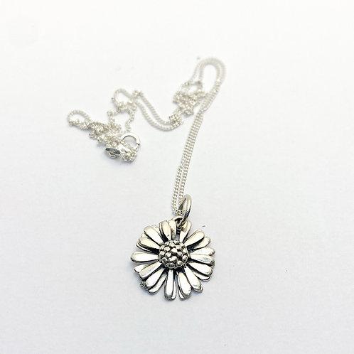 Sterling Silver Daisy Pendant