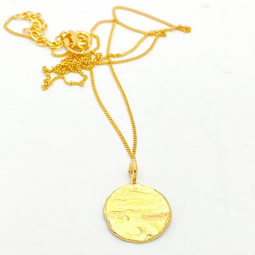 Organic Disc Necklace