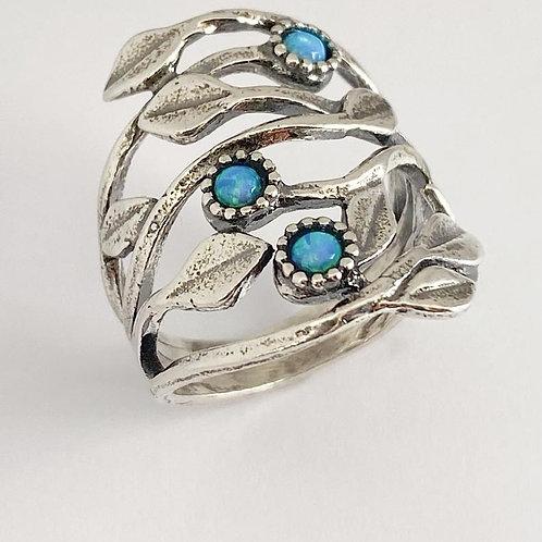 Opalite Leaf Ring