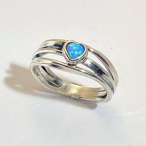 Heart Opalite Ring