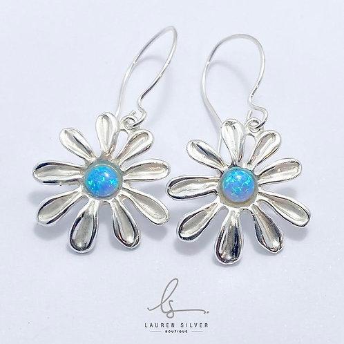 Flower Earrings Set with Opalite