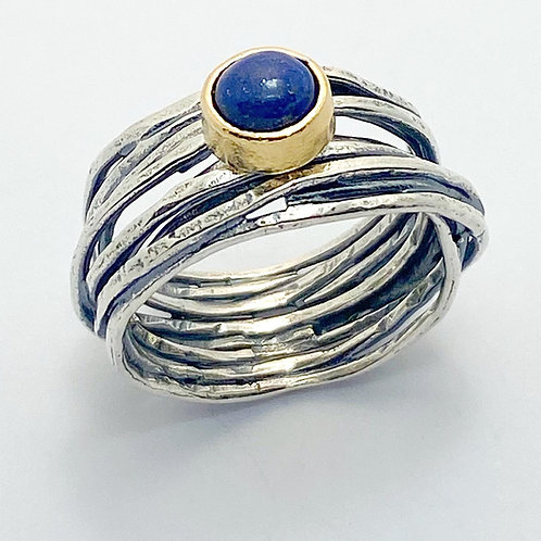 Kyanite set Woven Wire Ring