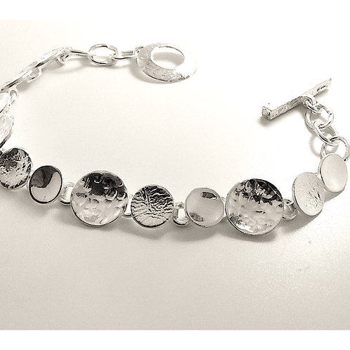 Hammered Disc Bracelet