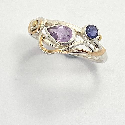Amethyst Iolite Ring