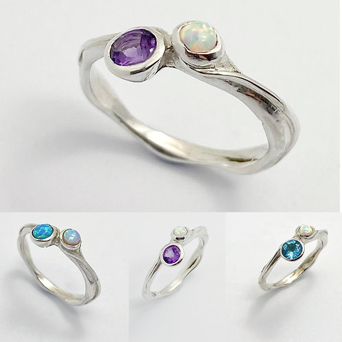 Two stone set  Ring