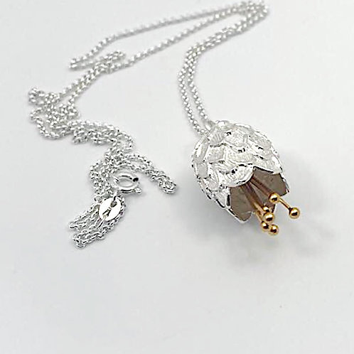Thistle Silver and Gold Plate Pendant