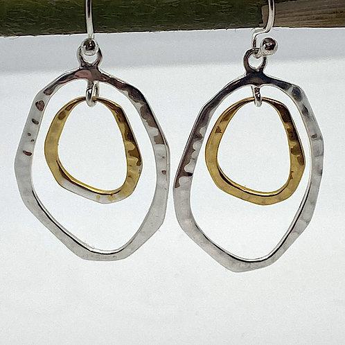 Irregular Hoop Drop Earrings