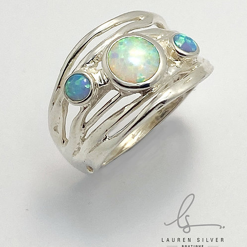 Triple Opalite Ring