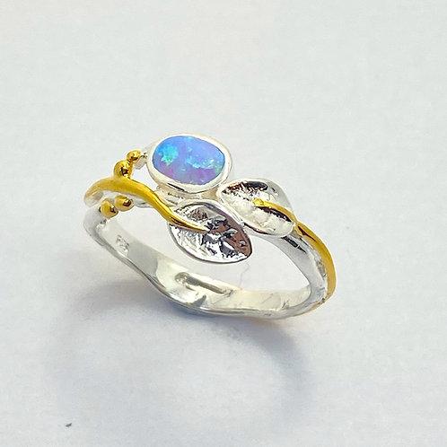 Leaf Ring Opalite Set
