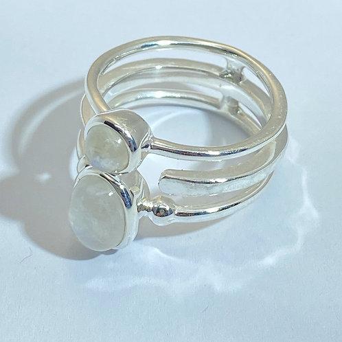 Double Rainbow Moonstone Ring