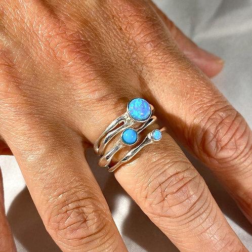 Opalite Stacker Rings