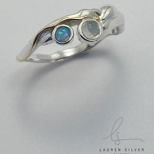 Opalite & Moonstone ring