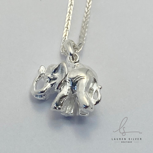 Elephant Pendant with necklace