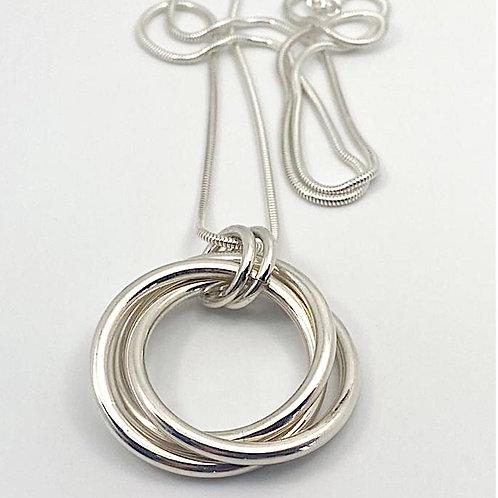 Bold Triple Ring Pendant