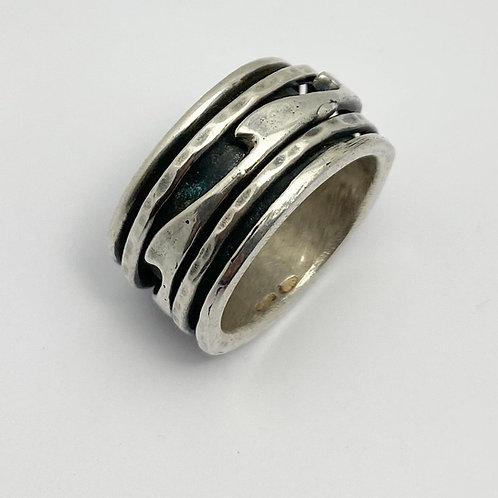 Men's Wave Spinner Ring