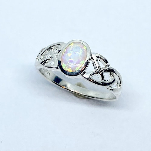 Celtic Style Ring set with Opalite