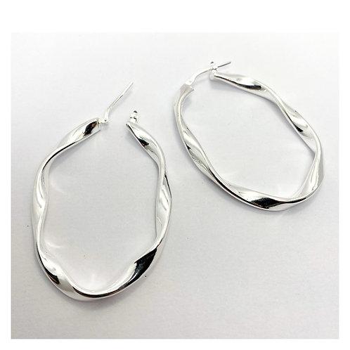 Oval Twisty Earrings