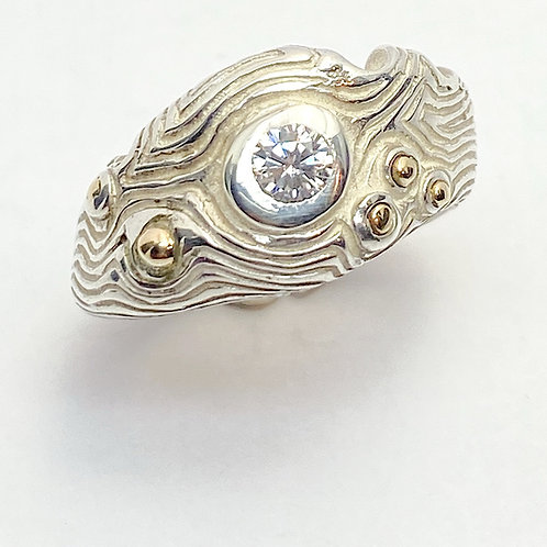 Quirky Cubic Ziconia Ring