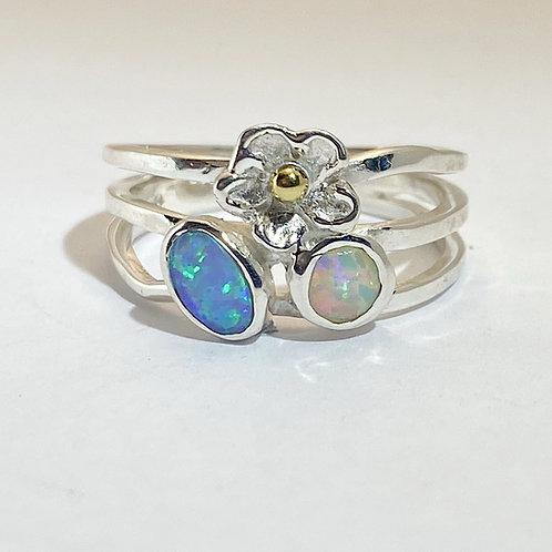 Opalite Flower Ring