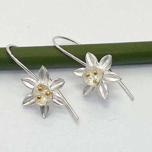 Daffodils Sterling Silver Earrings