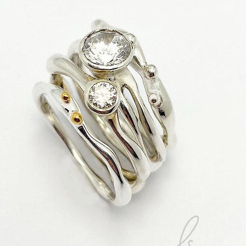 Cubic Zirconia Stacker Ring