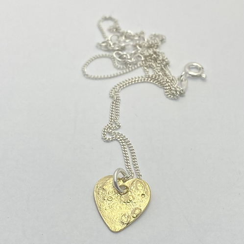 Organic Gold plated Heart Necklace