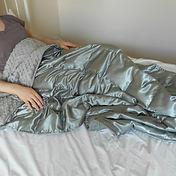 custom satin weighted blanket