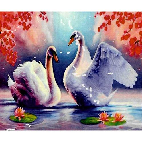Алмазная живопись 40*50 см ПОЛНОЕ заполнение Лебединая верность Модель: 301266