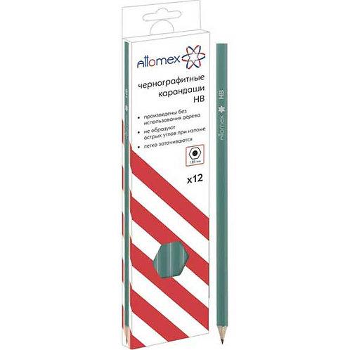 Карандаш ч/гр. пластик. ATTOMEX 5032600 HB, зеленый корп