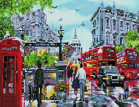 Алмазная мозаика 40х50 QA204599 Солнечный Лондон
