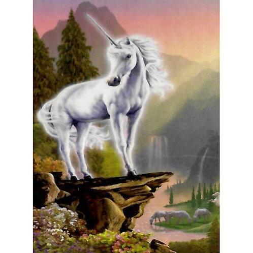 Алмазная живопись 40*50 см ПОЛНОЕ Белый единорог Модель: 301234