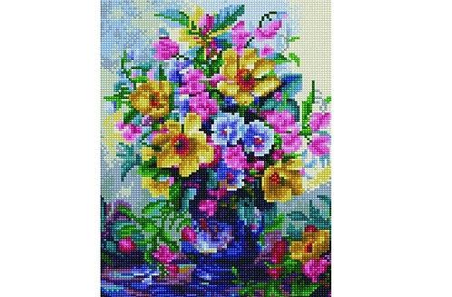 Алмазная мозаика 30х40 QS201120 Разноцветный букет