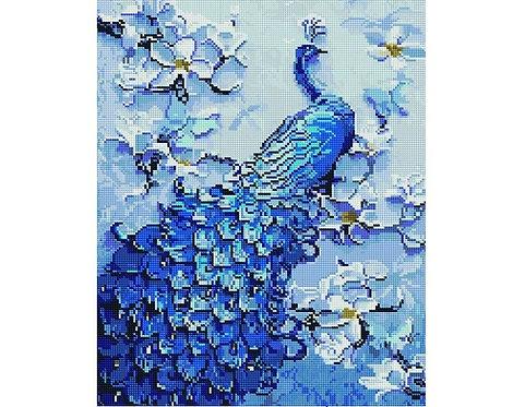 Алмазная мозаика 40х50 GF4622 Необычный павлин