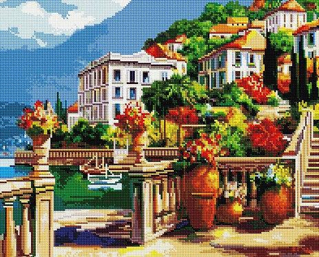 Алмазная мозаика 40х50 GF1184 Пляжные домики